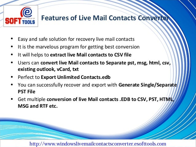 how to export windows live mail contacts