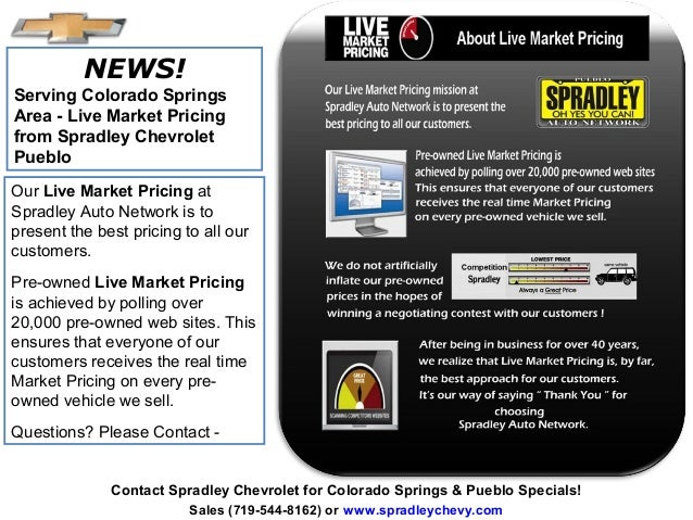 Live Market Pricing L Chevy Colorado Springs Area L Spradley