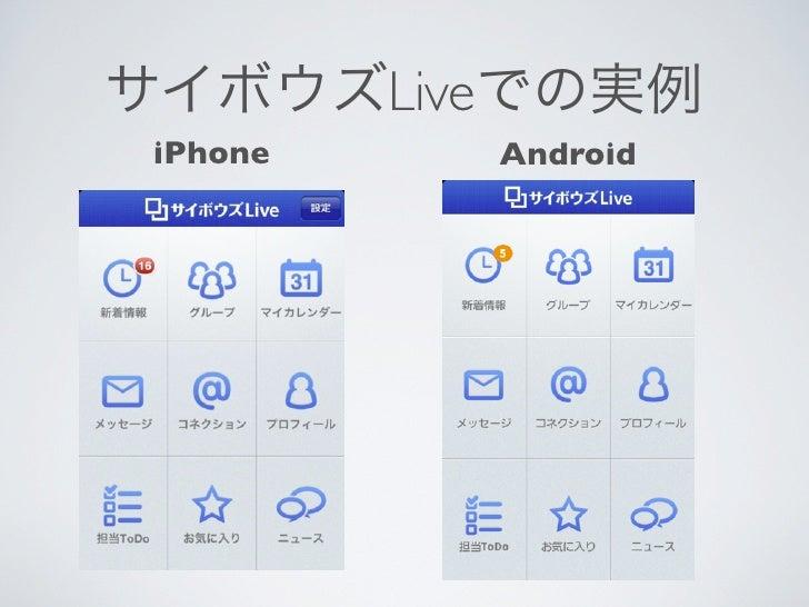 サイボウズLiveでの実例 iPhone   Android