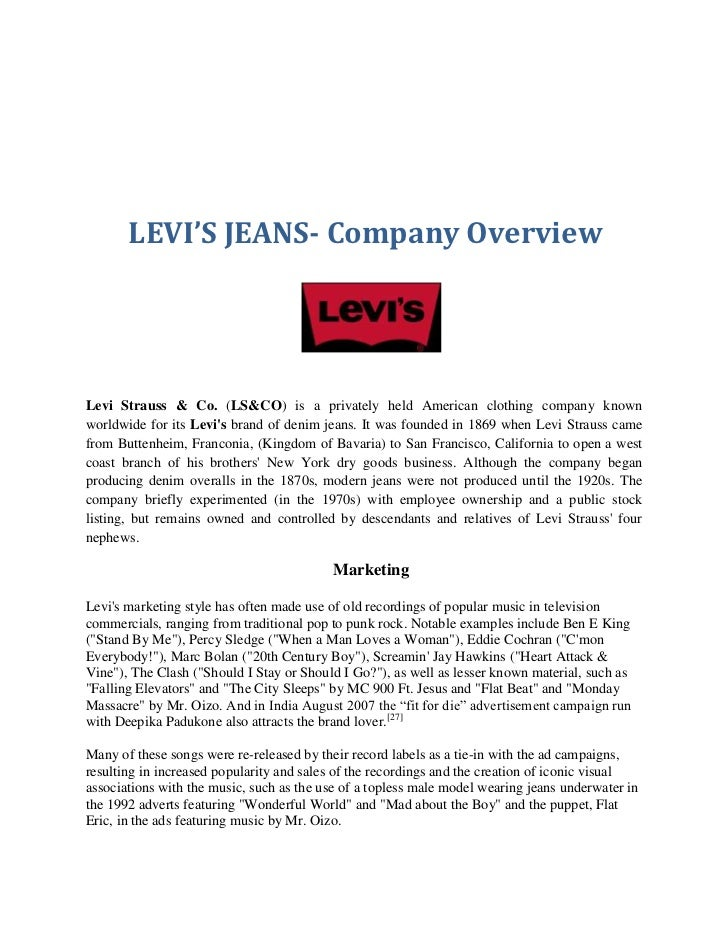 levi strauss consumer purchase behavior Levi strauss company levi's inclined path is an  the company can trace consumers' priorities and purchase  it involves the study of consumer behavior.