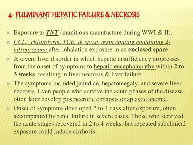 There are two types of human malignant liver disorders associated with occupational & environmental hepatotoxicants, 1. He...