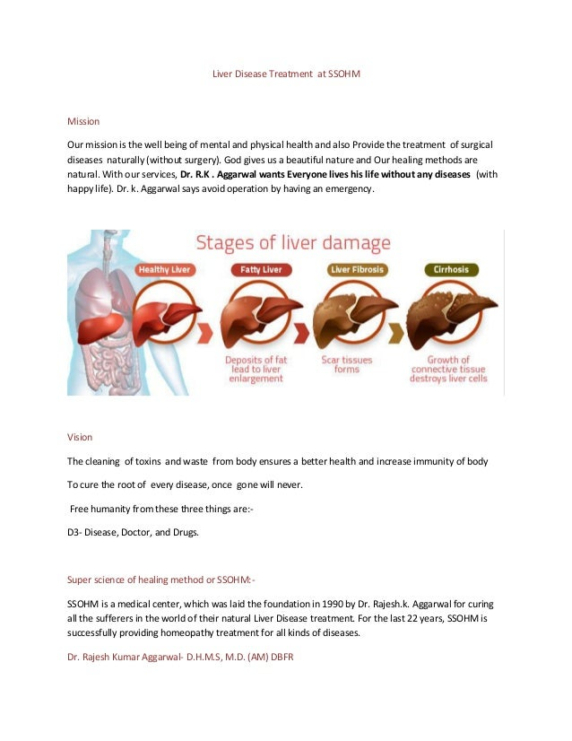 Liver Disease Treatment at SSOHM Mission Our mission is the well being of mental and physical health and also Provide the ...