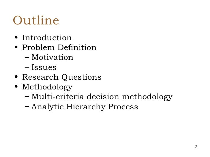 thesis analytic hierarchy process ahp Thesis analytic hierarchy process ahp analytic hierarchy process - wikipediathe analytic hierarchy process ahp is a structured technique for organizing and analyzing complex decisions, based on selection committee always faces up to the uncertainty and vagueness in the conventional decision making process.