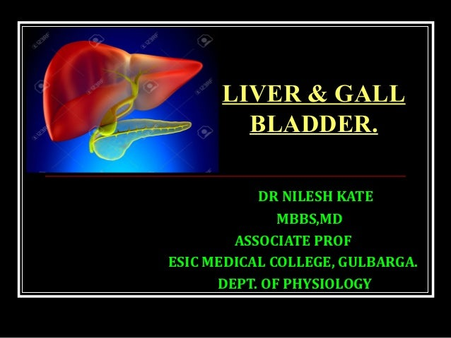 DR NILESH KATE MBBS,MD ASSOCIATE PROF ESIC MEDICAL COLLEGE, GULBARGA. DEPT. OF PHYSIOLOGY LIVER & GALL BLADDER.