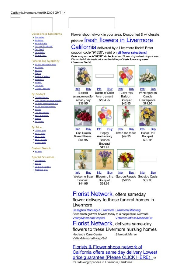 California/livermore.htm 09:23:04 GMT -->               Occasions & Sentiments          Flower shop network in your area. ...