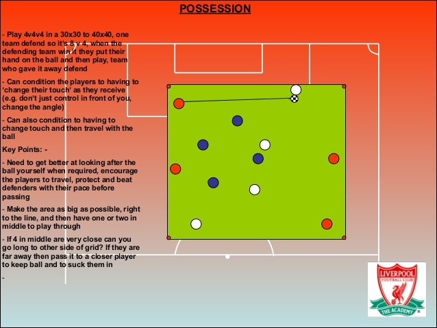 POSSESSION ! - Play 4v4v4 in a 30x30 to 40x40, one team defend so it's 8 v 4, when the defending team win it they put thei...