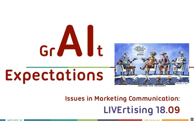 LIVErtising.netS 2017-18 1 11 Issues in Marketing Communication: