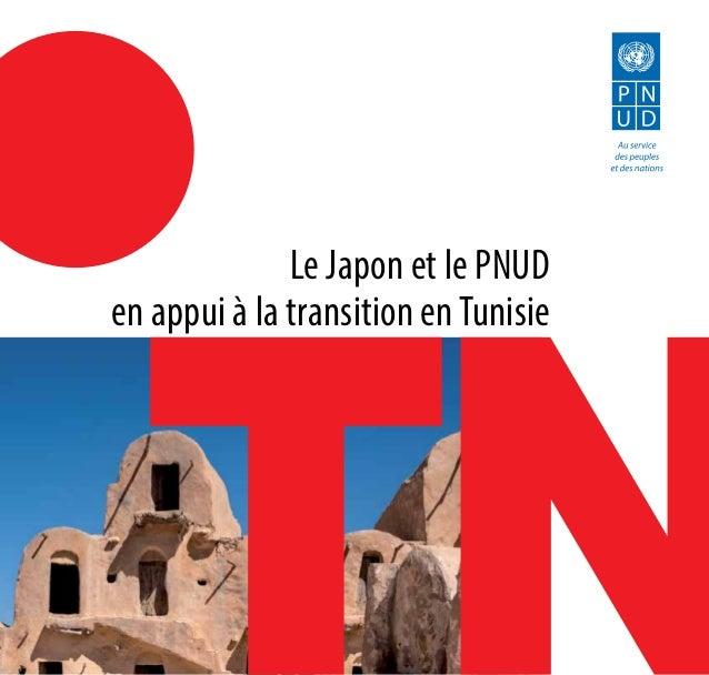Le Japon et le PNUD en appui à la transition enTunisie