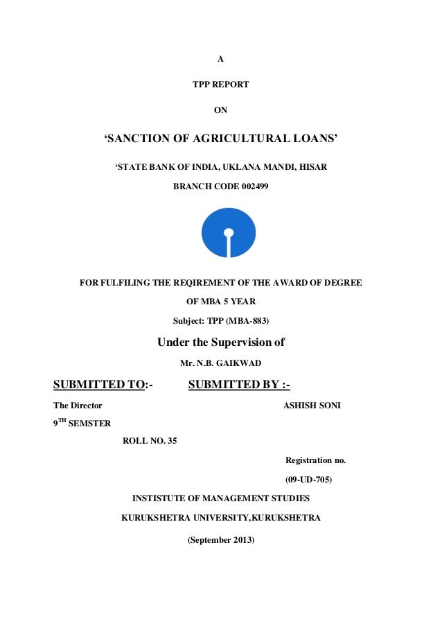 Sanction Of Agriculture Loan