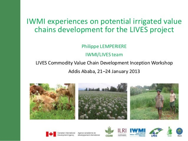 IWMI experiences on potential size and  Minimum of 30 font irrigated value  chains development for lines title     maximum...