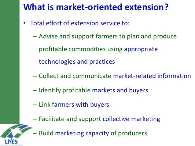 market oriented Market orientation is a company philosophy focused on discovering and meeting the needs and desires of its customers through its product mix unlike past marketing strategies that concentrated on establishing selling points for existing products, market orientation works in reverse, attempting to tailor products to meet the demands of customers.