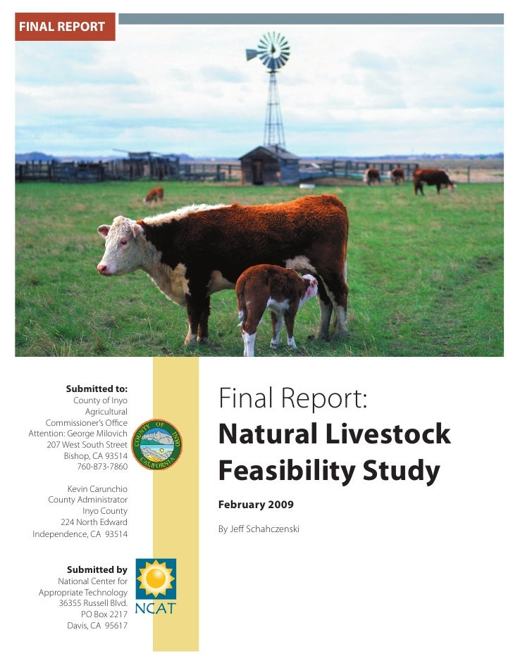 FINAL REPORT           Submitted to:             County of Inyo                Agricultural                               ...