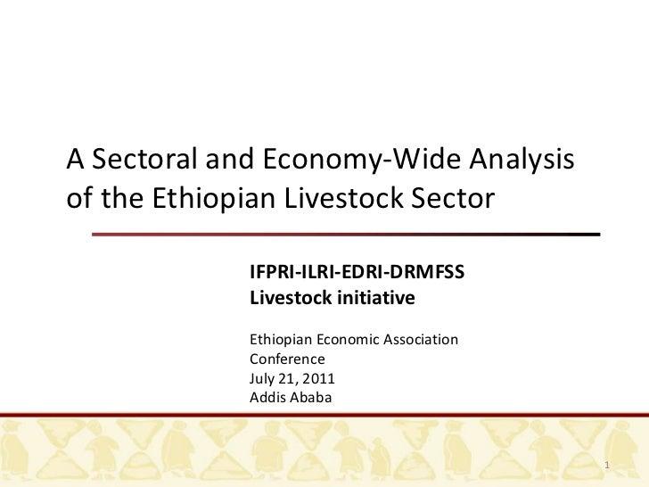 A Sectoral and Economy-Wide Analysis of the Ethiopian Livestock Sector<br />IFPRI-ILRI-EDRI-DRMFSS<br />Livestock initiati...