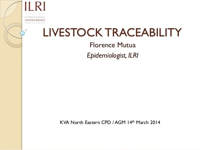 Chapter 14, Traceability
