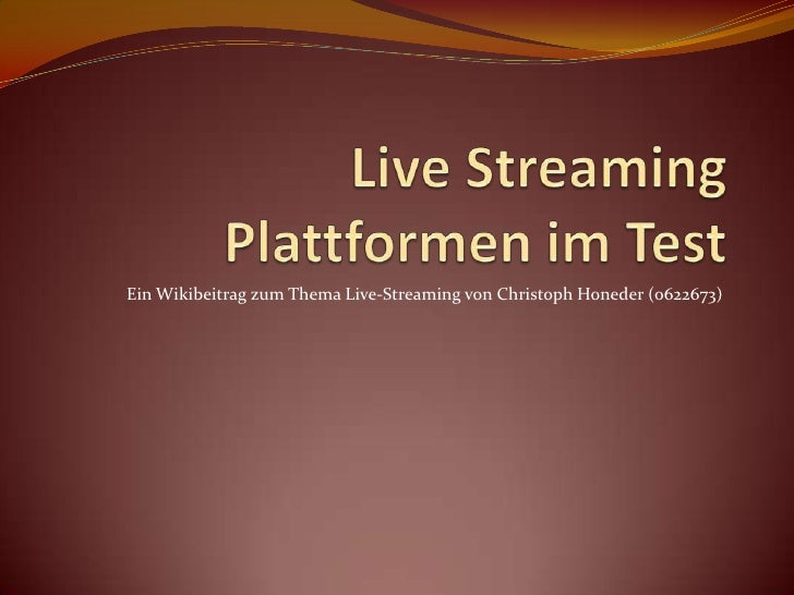 Streaming Plattformen