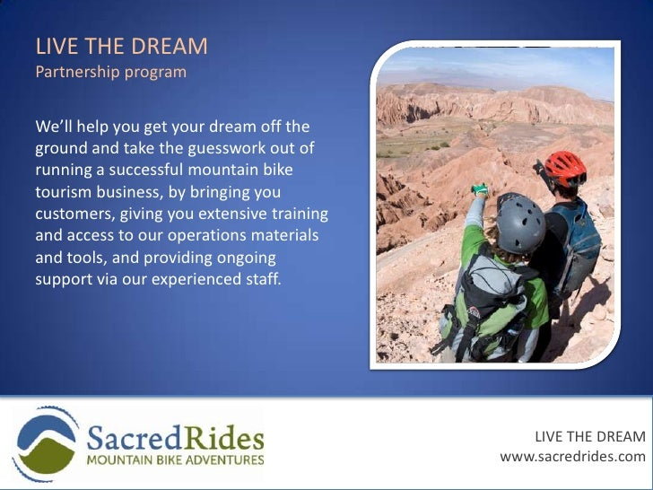 LIVE THE DREAM<br />Partnership program<br />We'll help you get your dream off the ground and take the guesswork out of ru...