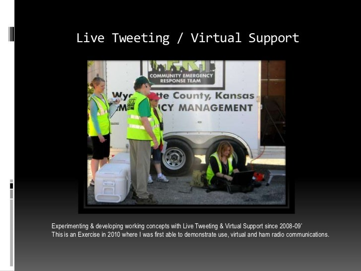 Live Tweeting / Virtual SupportExperimenting & developing working concepts with Live Tweeting & Virtual Support since 2008...