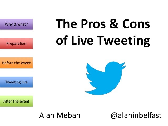 Why & what?                       The Pros & Cons  Preparation          of Live TweetingBefore the event Tweeting liveAfte...