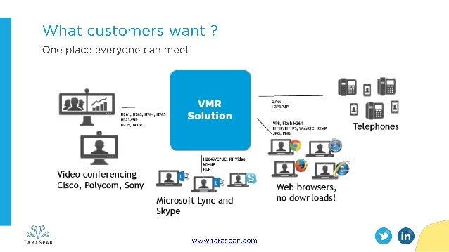 Live Virtual Meeting Room (VMR) demo