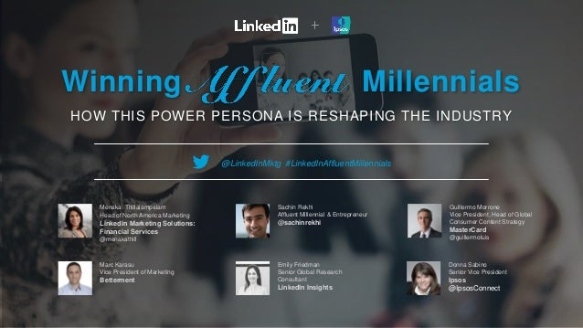 Winning Millennials HOW THIS POWER PERSONA IS RESHAPING THE INDUSTRY Menaka Thillaiampalam Head of North America Marketing...