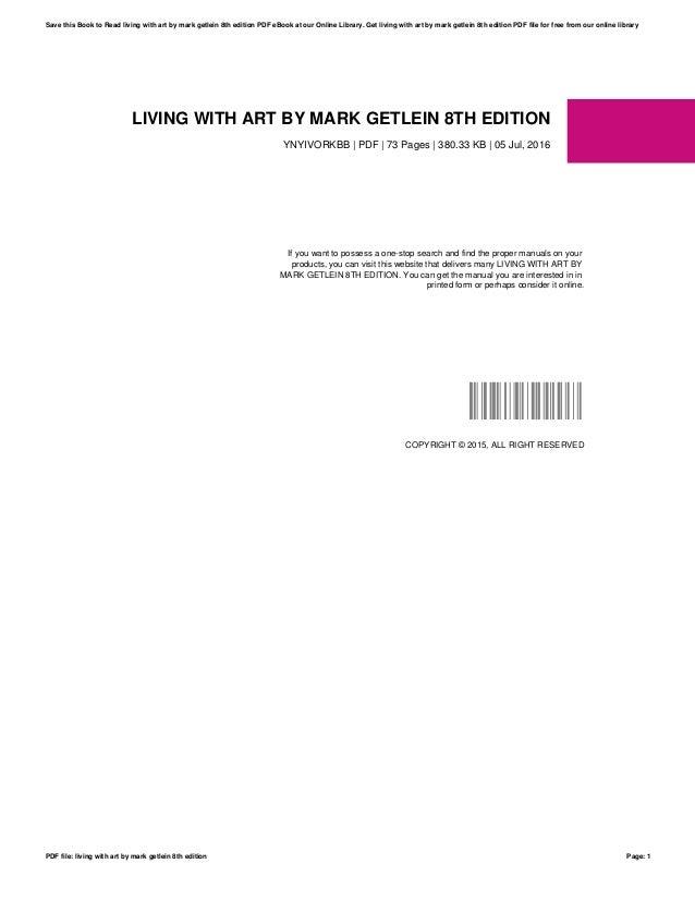 Living With Art 10th Edition Mark Getlein Pdf