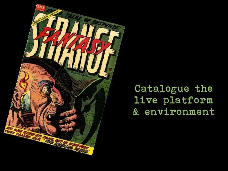 Catalogue thelive platform& environment