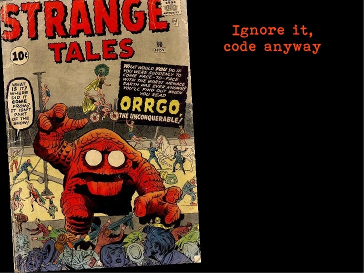 Ignore it,code anyway