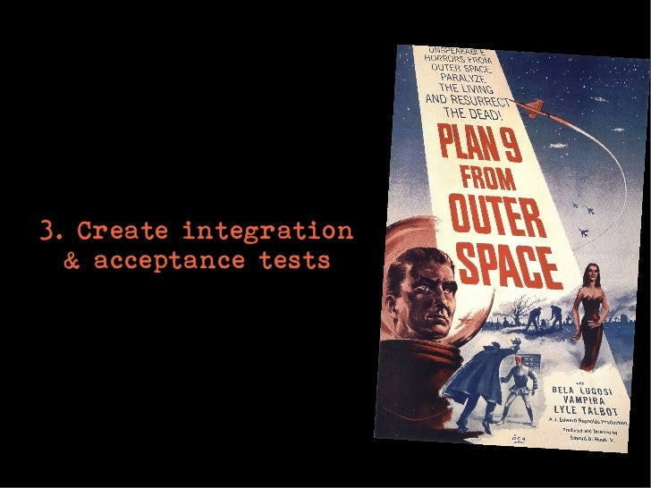 3. Create integration  & acceptance tests