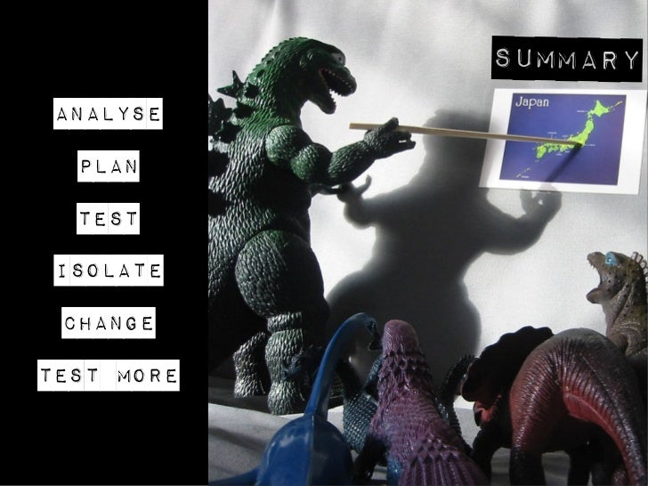 Summary Analyse  Plan  Test IsolatE ChangeTest MORE
