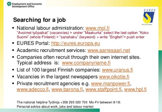 how to work in finland