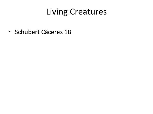 Living Creatures • Schubert Cáceres 1B