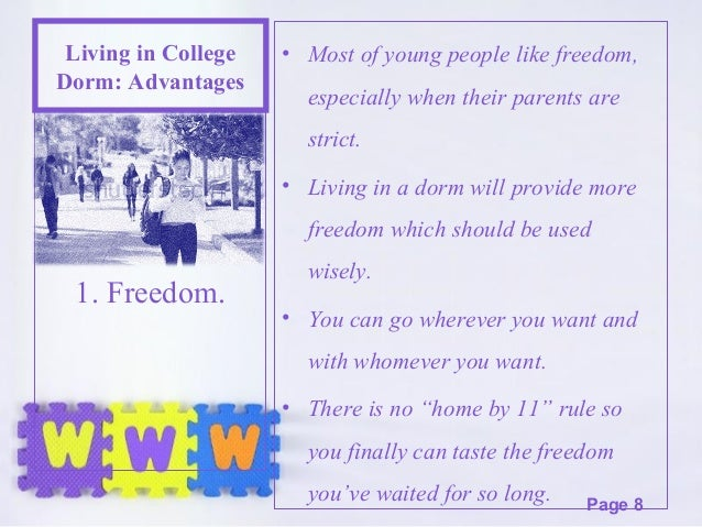 advantages of living with parents in college essay Essay topics: in some countries, more and more adults choose to continue to live with their parents after they graduate and have found jobsdo the advantages of this trend is outweigh its disadvantages.