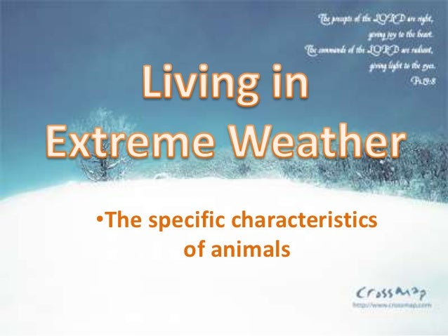 •The specific characteristics        of animals