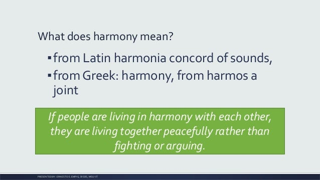 Living in harmony with the earth