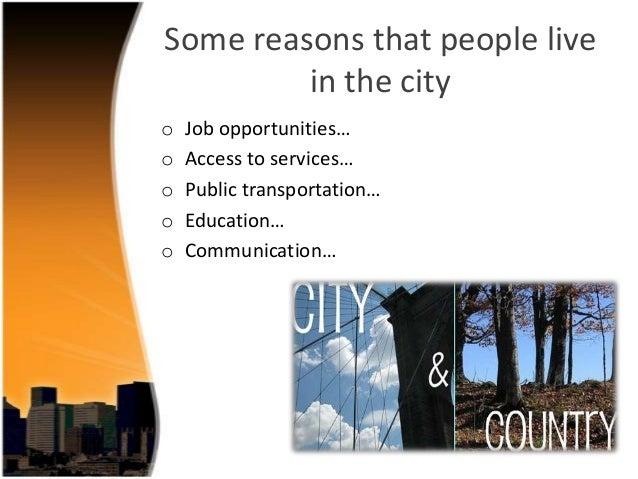 city vs country essay
