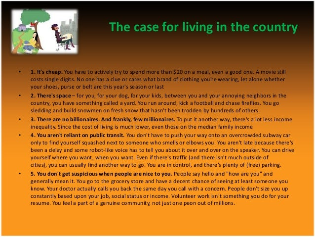 Living farm living city essay