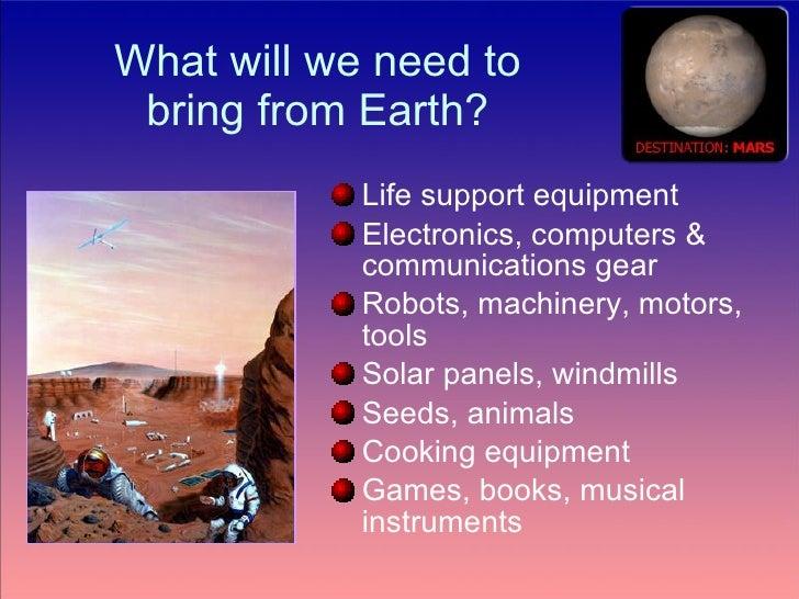 Living On Mars Ppt