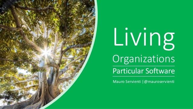 Living Organizations Particular Software Mauro Servienti  @mauroservienti