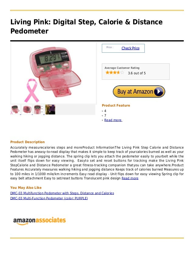 Living Pink: Digital Step, Calorie & DistancePedometer                                                               Price...