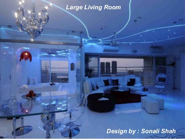 Design by : Sonali Shah Large Living Room ...