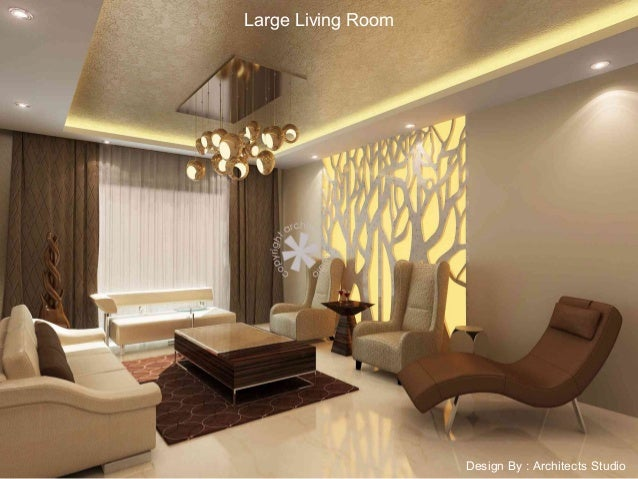 Large Living Room Design By : Architects Studio ...