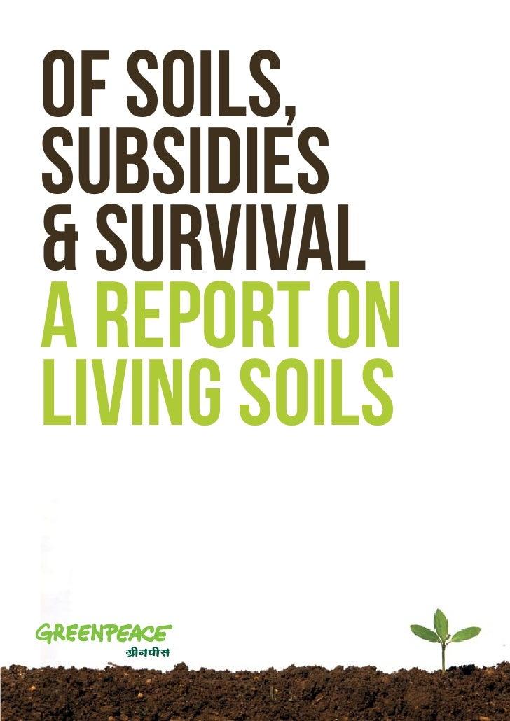 Of soils,Subsidies& Survivala report onliving soils