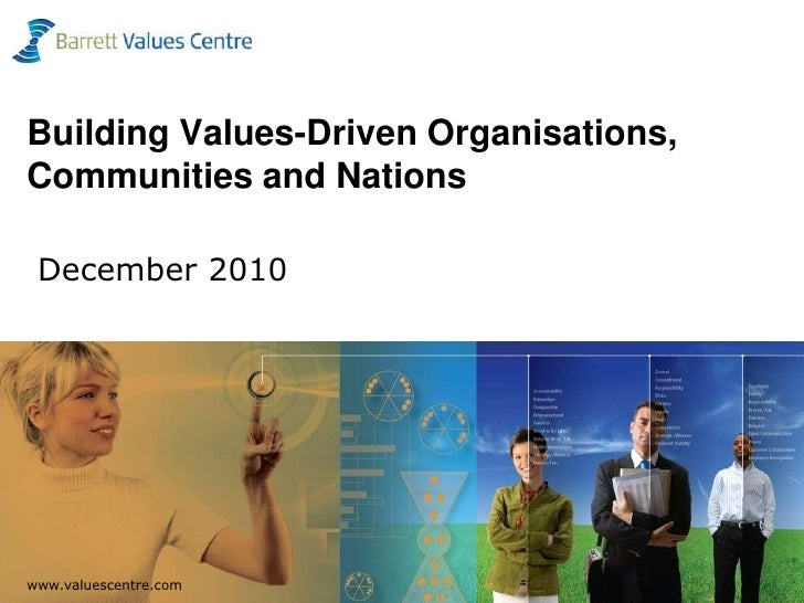 Building Values-Driven Organisations, Communities and Nations December 2010<br />