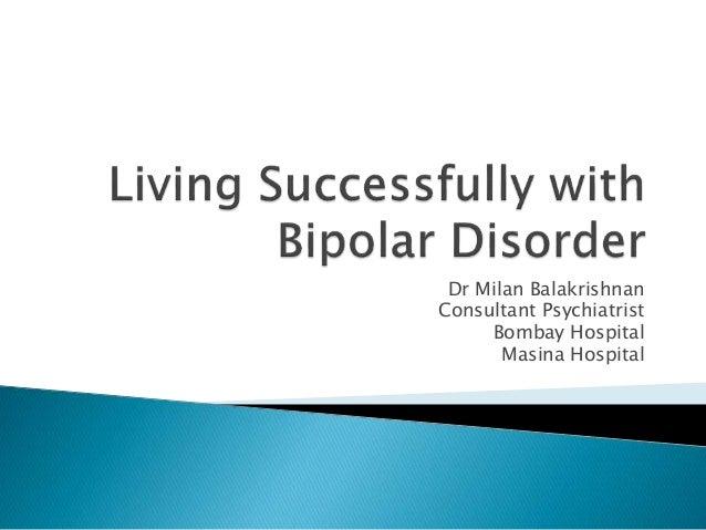 Dr Milan Balakrishnan Consultant Psychiatrist Bombay Hospital Masina Hospital