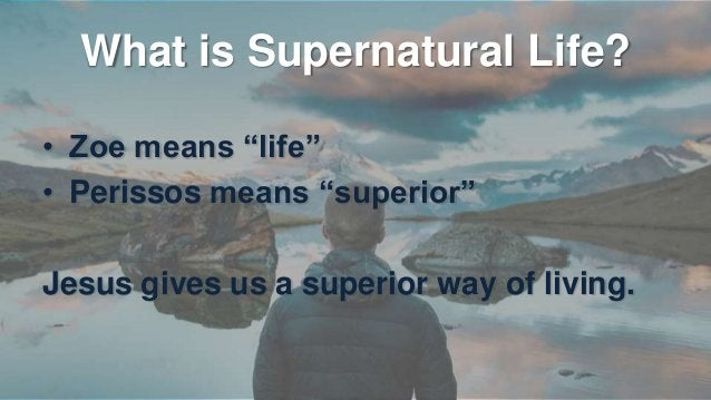 """Access Supernatural Life • We must die to receive supernatural life """"For if you live according to the flesh you will die; ..."""