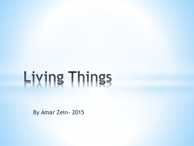 By Amar Zein- 2015