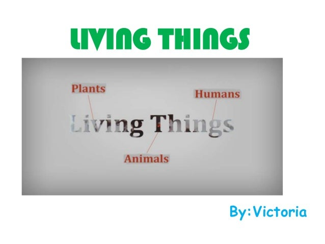 LIVING THINGS  By:Victoria