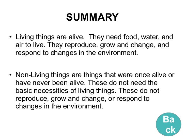 Free Worksheets worksheet of living and nonliving things : Living things and non living things (with license)
