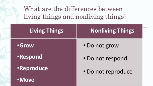 what is the difference between living and nonliving