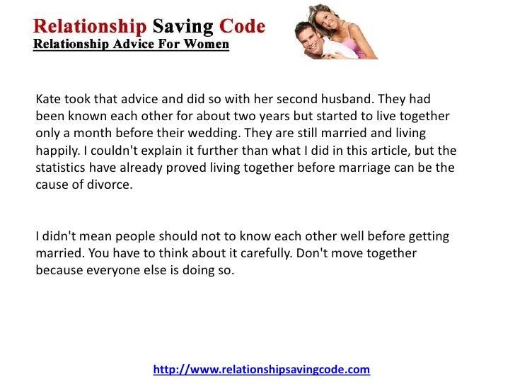 Marriage Divorce Cohabitation
